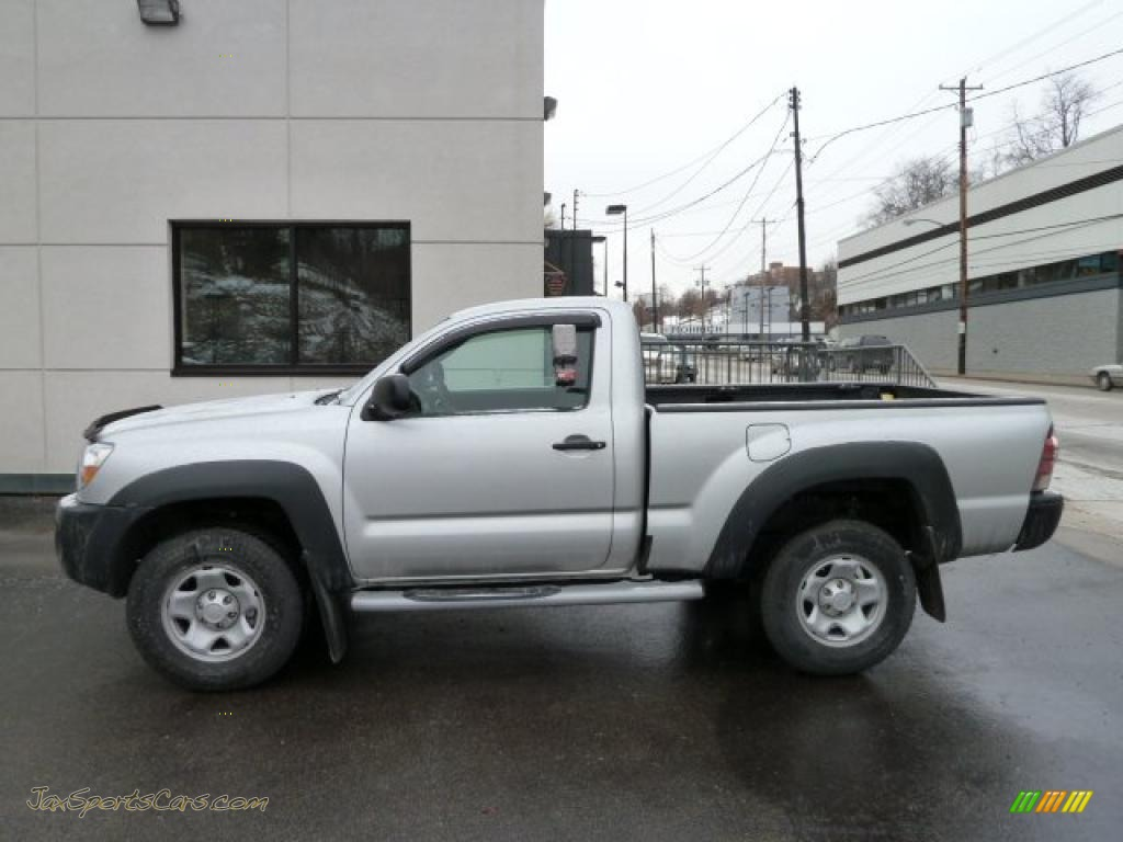 2010 toyota tacoma regular cab 4x4 in silver streak mica 695399 jax sports cars cars for. Black Bedroom Furniture Sets. Home Design Ideas