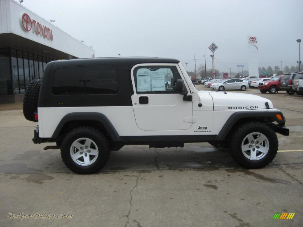 2006 jeep wrangler unlimited rubicon 4x4 in stone white. Black Bedroom Furniture Sets. Home Design Ideas