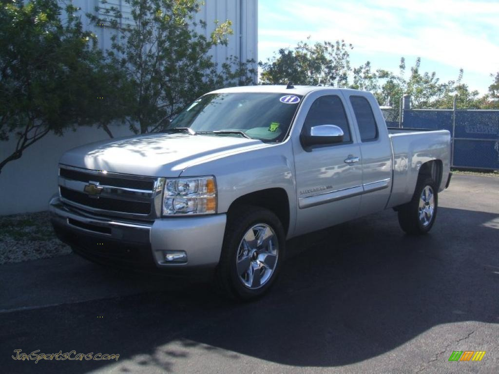 2011 chevrolet silverado 1500 lt extended cab in sheer silver metallic 235638 jax sports. Black Bedroom Furniture Sets. Home Design Ideas