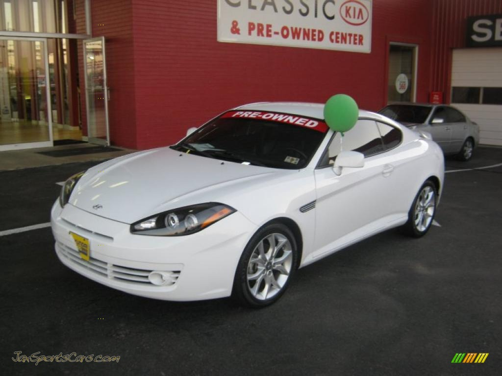 2008 Hyundai Tiburon Gt In Captiva White 273445 Jax Sports Cars Cars For Sale In Florida