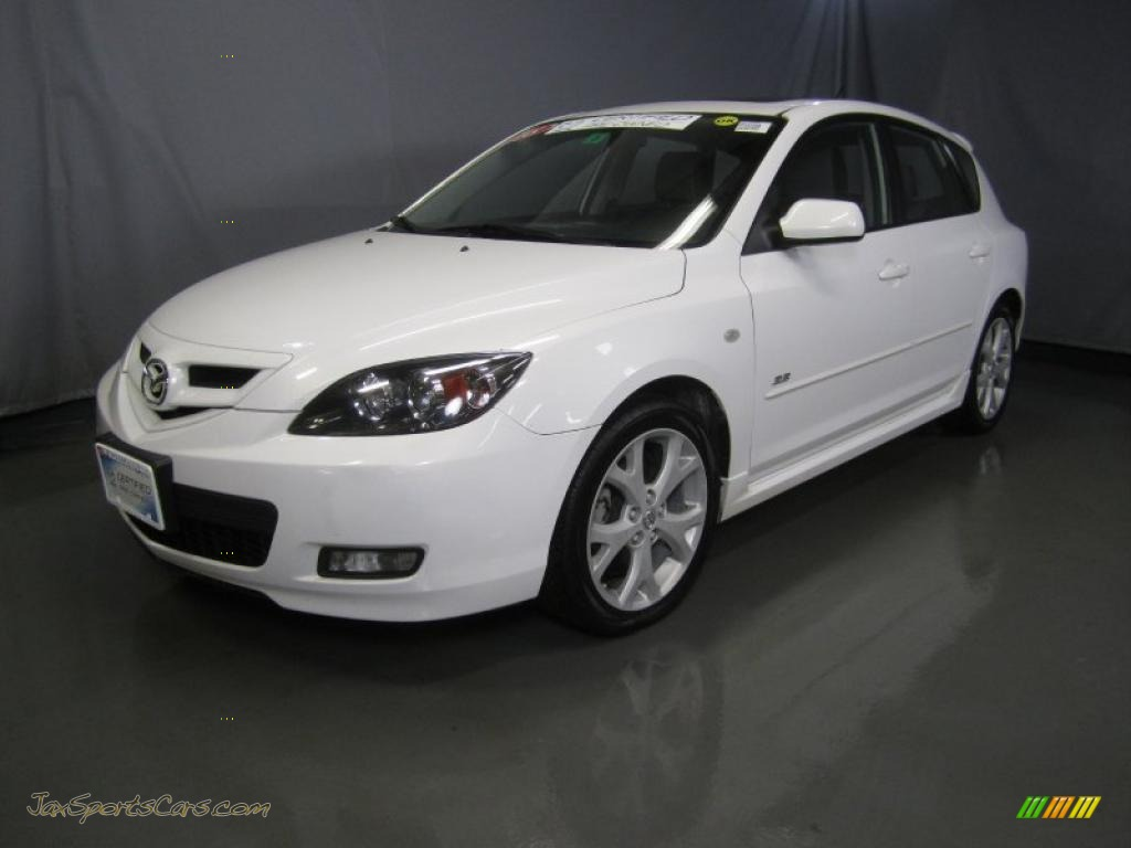 2008 mazda mazda3 s grand touring hatchback in crystal white pearl mica 113863 jax sports. Black Bedroom Furniture Sets. Home Design Ideas