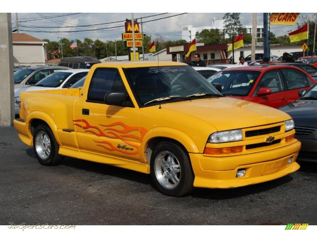 2003 Chevrolet S10 Ls Regular Cab In Yellow 167494 Jax