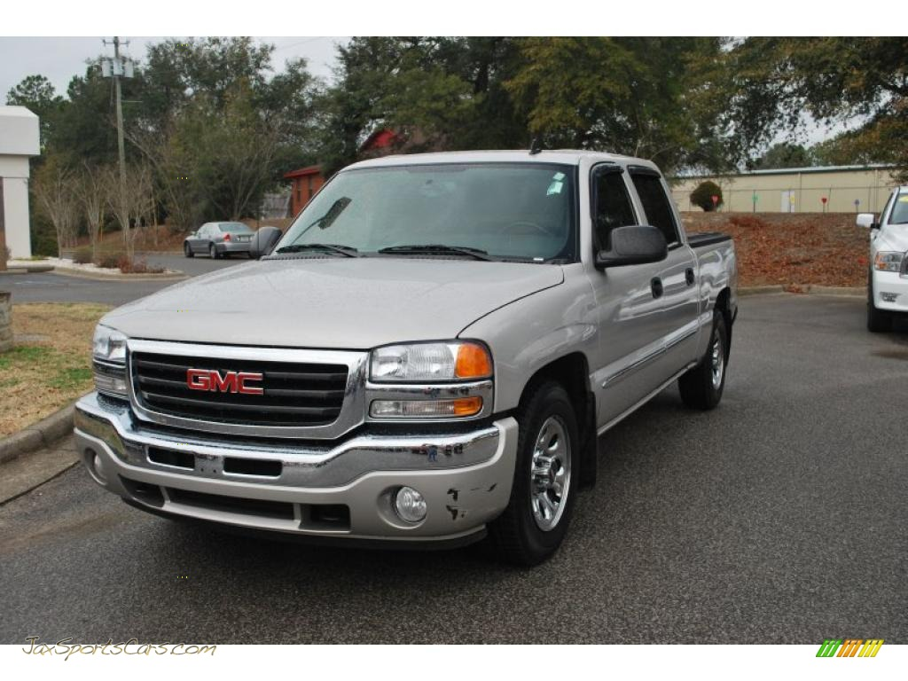 2006 gmc sierra 1500 sle crew cab in silver birch metallic 140095 jax sports cars cars for. Black Bedroom Furniture Sets. Home Design Ideas