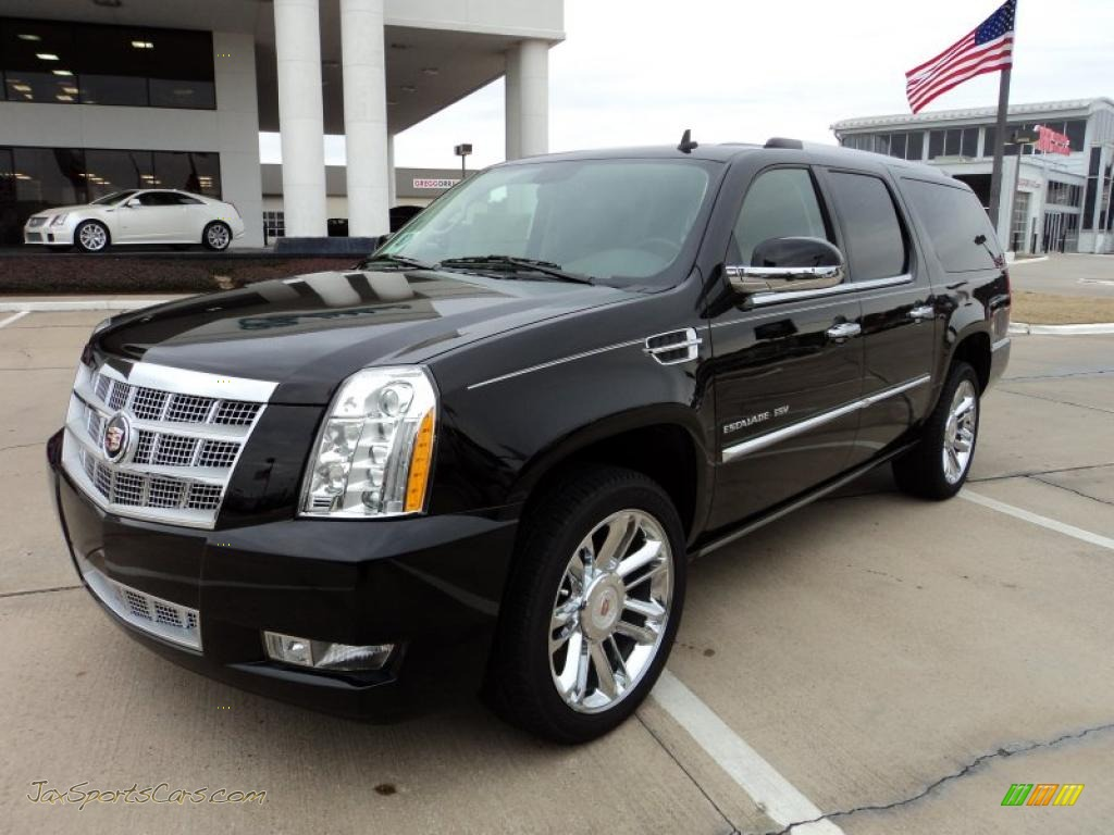 2011 cadillac escalade esv platinum in black raven 246667 jax sports cars cars for sale in. Black Bedroom Furniture Sets. Home Design Ideas