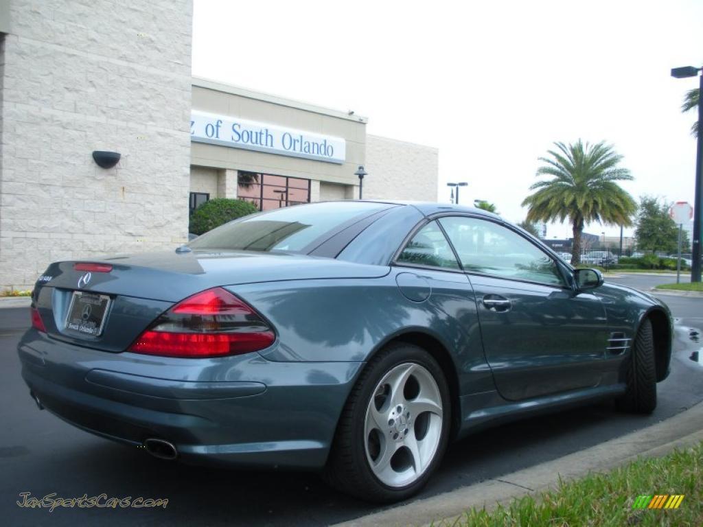 2005 mercedes benz sl 500 roadster in aegean blue metallic for Blue mercedes benz