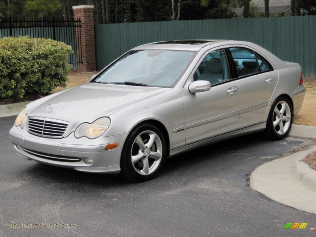 2004 mercedes benz c 230 kompressor sedan in pewter silver for Mercedes benz silver