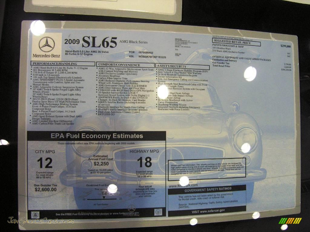 2009 mercedes benz sl 65 amg black series coupe in for Tele aid mercedes benz