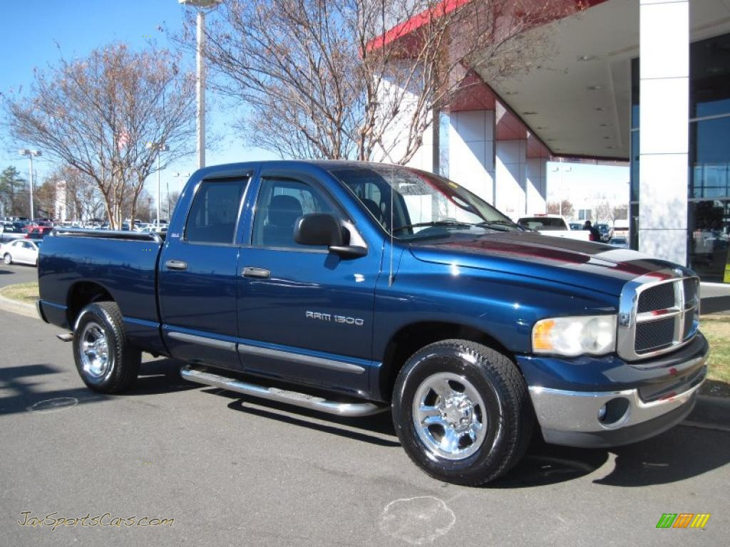 dodge ram  slt quad cab  patriot blue pearlcoat  jax sports cars cars