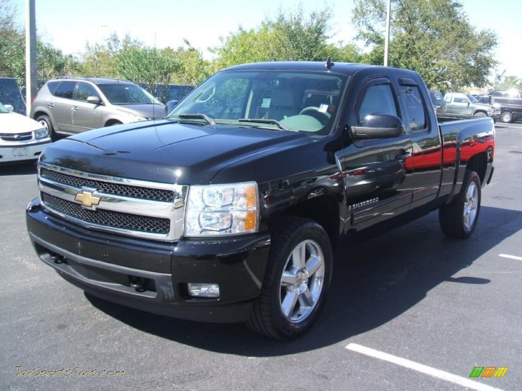 2007 chevrolet silverado 1500 ltz extended cab 4x4 in black 729562 jax sports cars cars. Black Bedroom Furniture Sets. Home Design Ideas