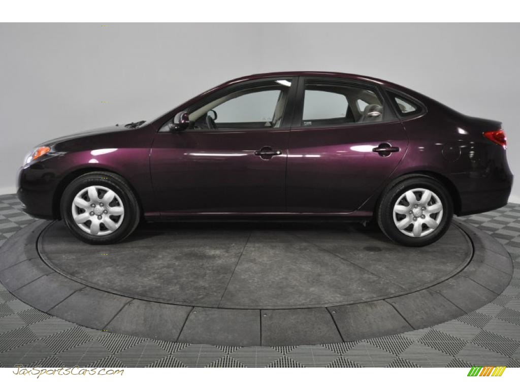 2008 Hyundai Elantra Gls Sedan In Purple Rain Metallic