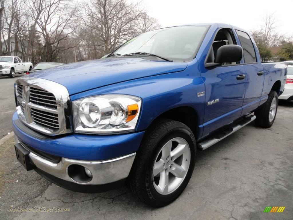dodge ram  big horn edition quad cab   electric blue pearl  jax sports