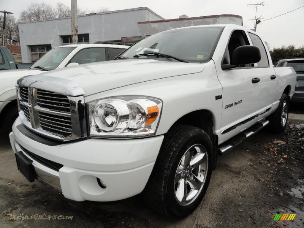 2007 dodge ram 1500 st quad cab 4x4 in bright white 177583 jax sports cars cars for sale. Black Bedroom Furniture Sets. Home Design Ideas