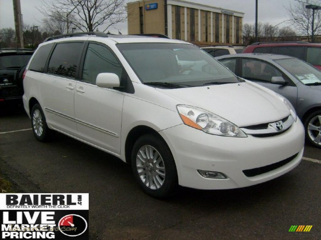 Natural white stone toyota sienna xle limited awd