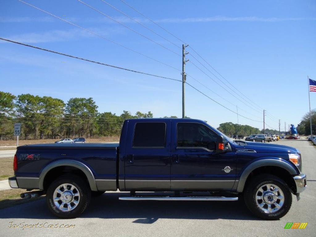 2011 Ford F250 Super Duty Lariat Crew Cab 4x4 In Dark Blue