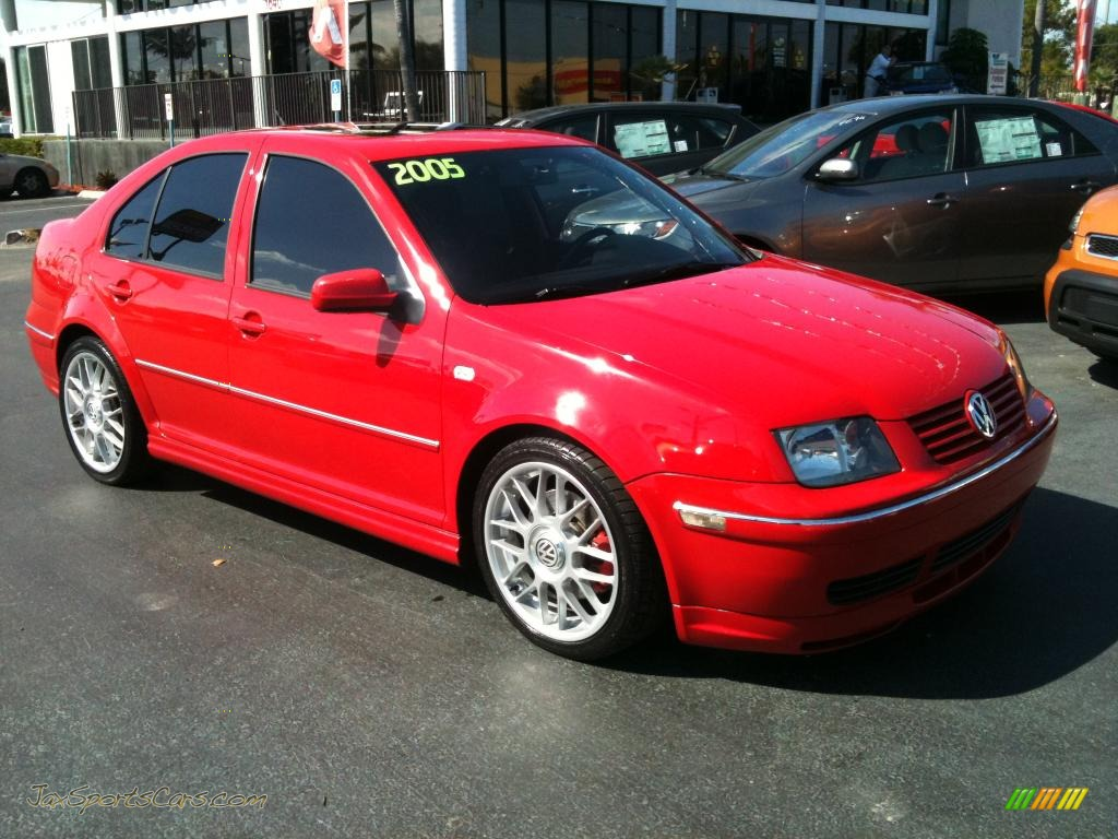 2005 volkswagen jetta gli sedan in tornado red 062296 jax sports cars cars for sale in florida. Black Bedroom Furniture Sets. Home Design Ideas