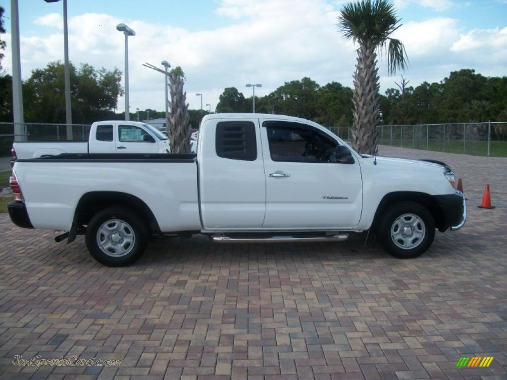 2005 toyota tacoma access cab in super white 055998 jax sports cars cars for sale in florida. Black Bedroom Furniture Sets. Home Design Ideas