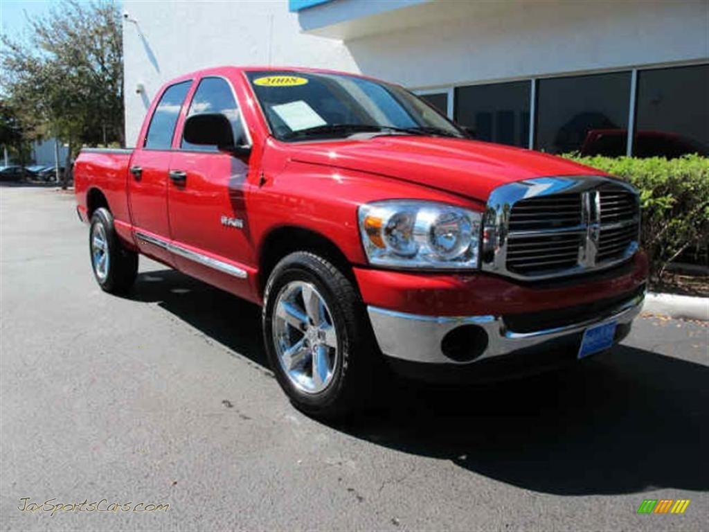 2008 dodge ram 1500 big horn edition quad cab in flame red 148906 jax sports cars cars for. Black Bedroom Furniture Sets. Home Design Ideas