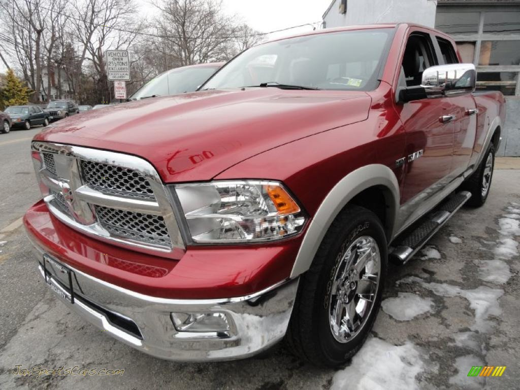2009 dodge ram 1500 laramie quad cab 4x4 in inferno red crystal pearl. Cars Review. Best American Auto & Cars Review