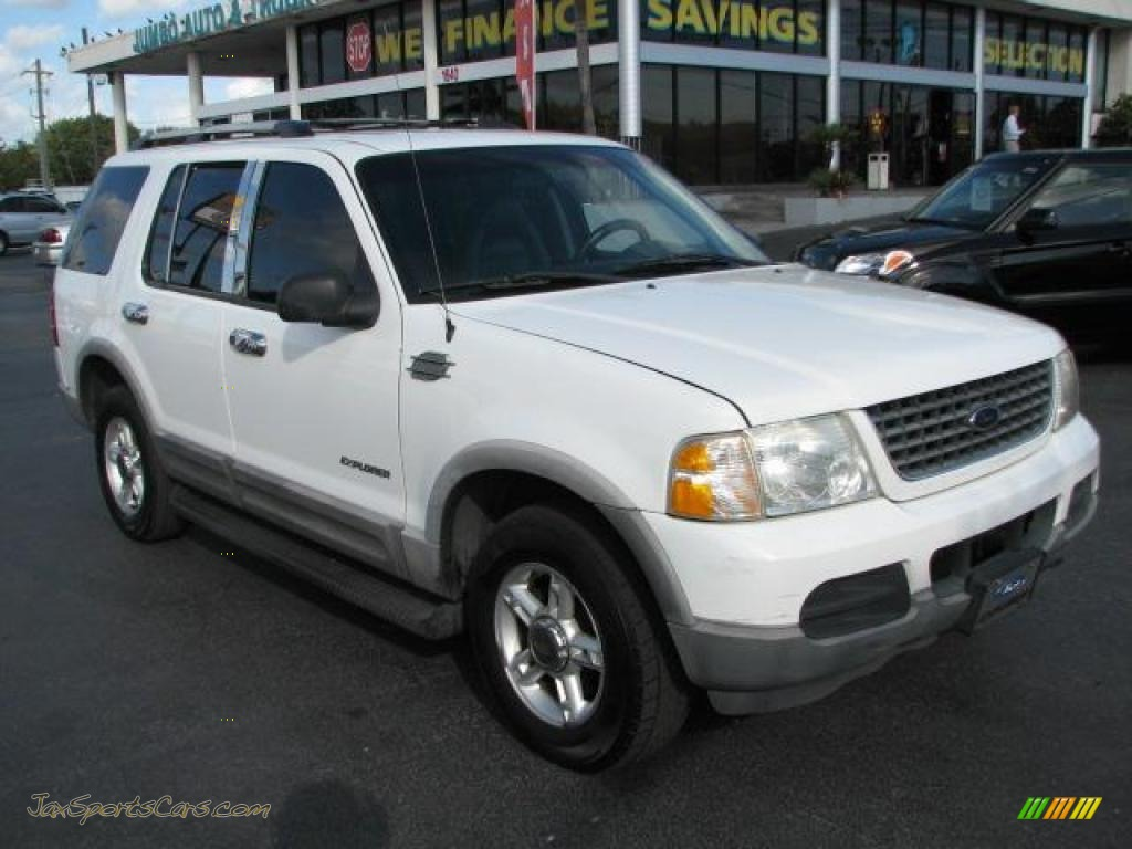 2002 ford explorer xlt 4x4 in oxford white a57579 jax sports cars cars for sale in florida. Black Bedroom Furniture Sets. Home Design Ideas