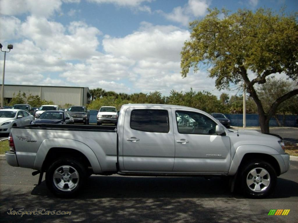 2010 toyota tacoma v6 sr5 trd sport double cab 4x4 in silver streak mica photo 2 023200 jax. Black Bedroom Furniture Sets. Home Design Ideas