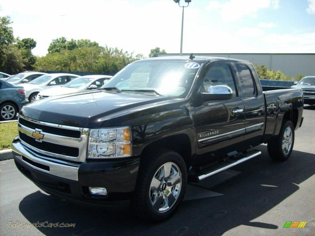 2011 chevrolet silverado 1500 lt extended cab 4x4 in black 278602 jax sports cars cars for. Black Bedroom Furniture Sets. Home Design Ideas