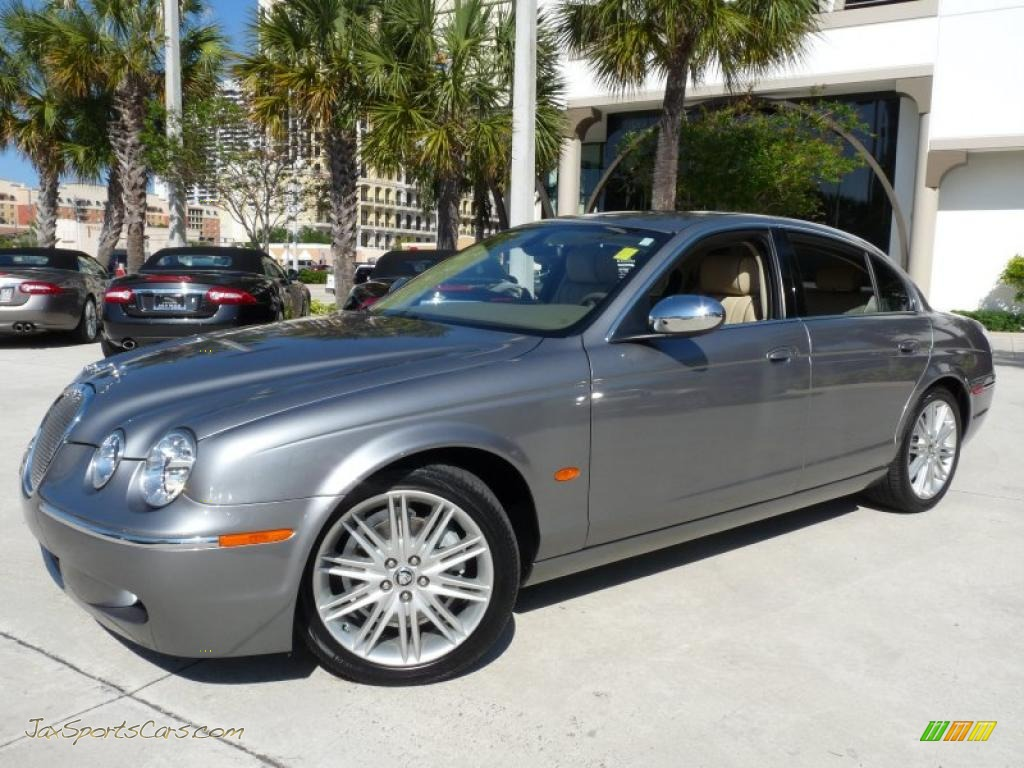 2008 jaguar s type 3 0 in lunar grey n87814 jax sports cars cars for sale in florida. Black Bedroom Furniture Sets. Home Design Ideas