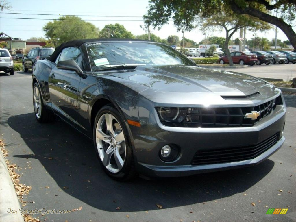 2011 chevrolet camaro ss rs convertible in cyber gray metallic 166031 jax sports cars cars. Black Bedroom Furniture Sets. Home Design Ideas