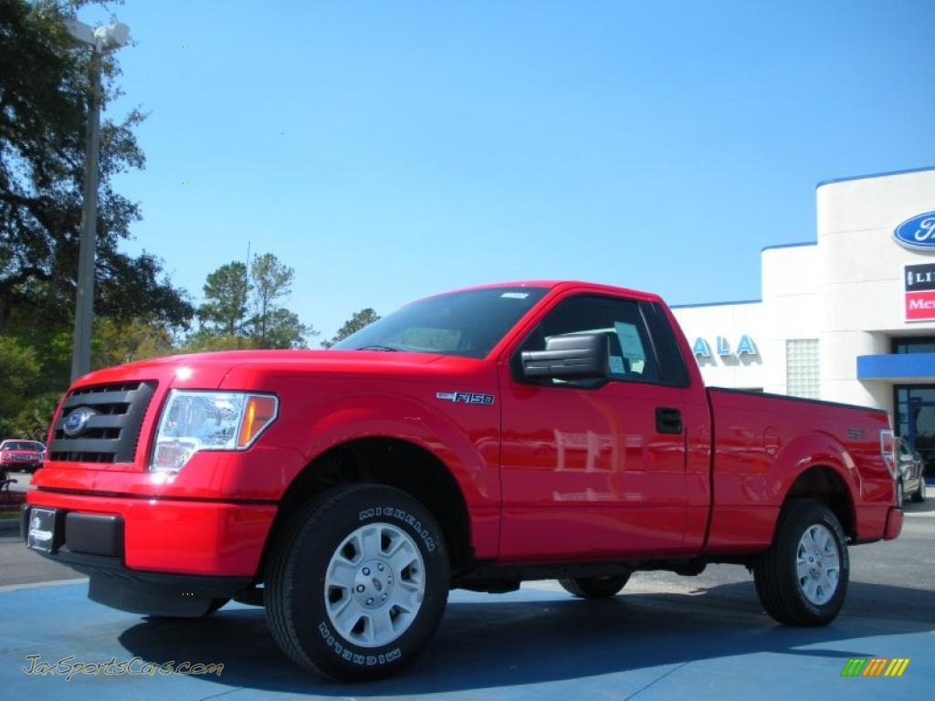 2011 ford f150 stx regular cab in race red b00240 jax sports cars cars for sale in florida. Black Bedroom Furniture Sets. Home Design Ideas