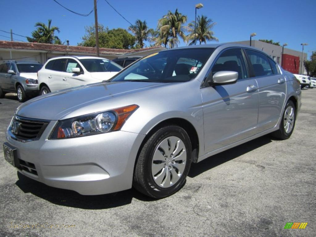 2009 Honda Accord Lx Sedan In Alabaster Silver Metallic