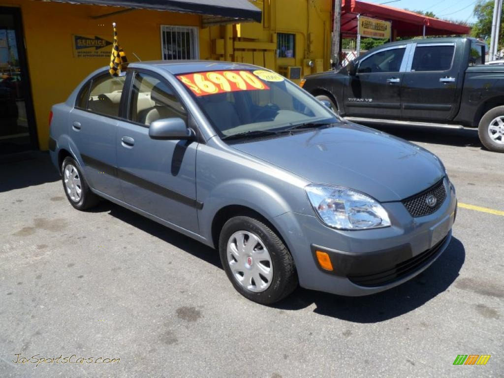 2006 kia rio lx sedan in olive gray 086782 jax sports cars cars for sale in florida. Black Bedroom Furniture Sets. Home Design Ideas