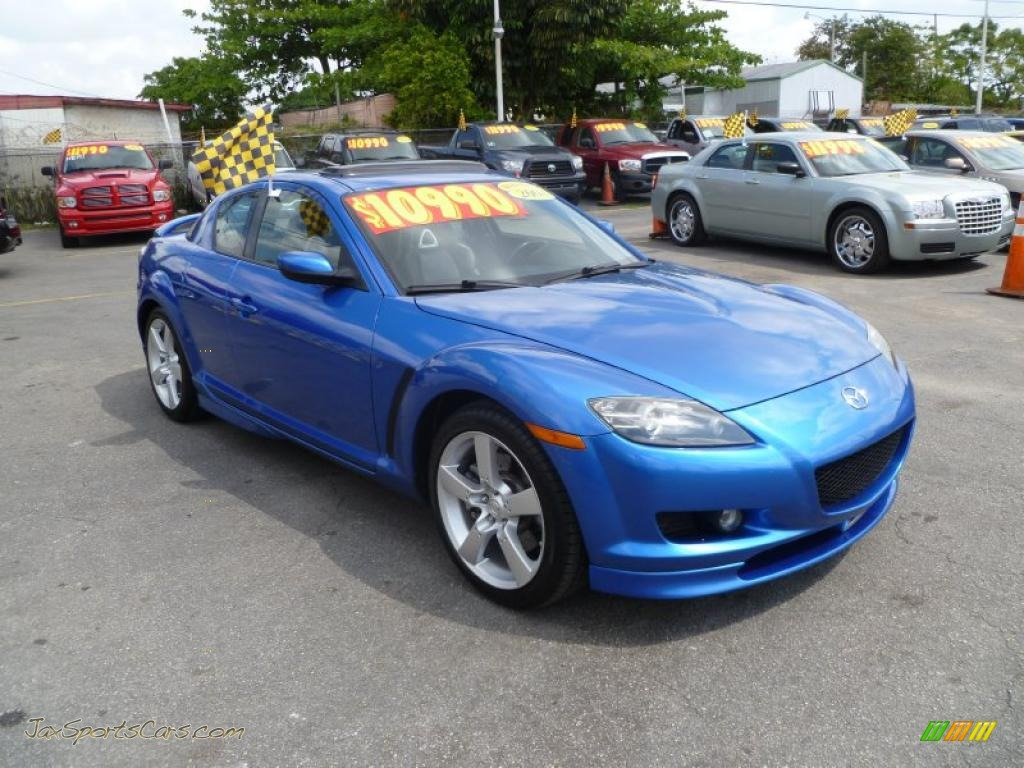 2004 mazda rx 8 grand touring in winning blue metallic 110780 jax sports cars cars for. Black Bedroom Furniture Sets. Home Design Ideas
