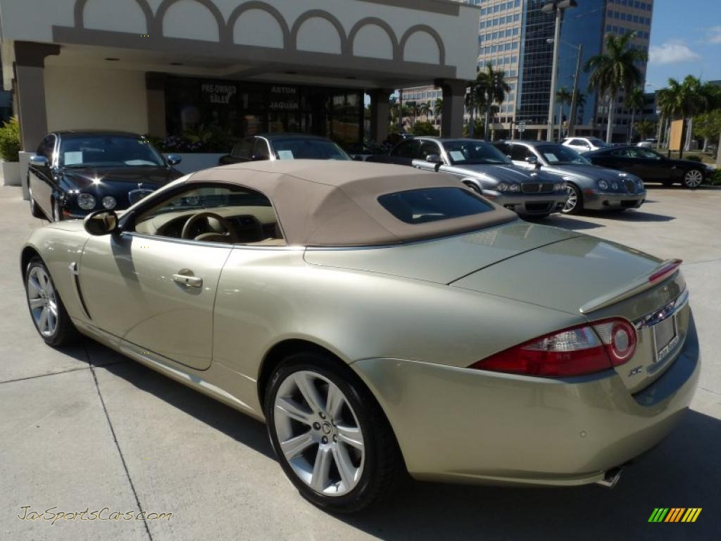 2008 xk xk8 convertible winter gold metallic caramel photo 8