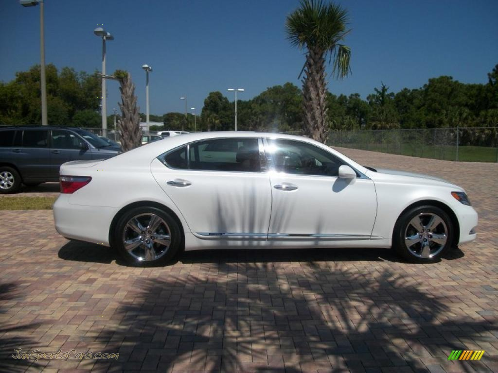 2008 lexus ls 600h l hybrid in starfire white pearl. Black Bedroom Furniture Sets. Home Design Ideas