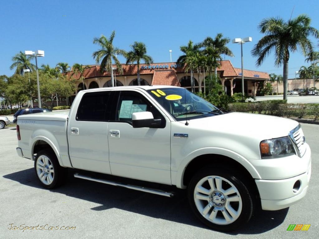 2008 F150 Limited SuperCrew 4x4 - White Sand Tri-Coat / Tan photo #1