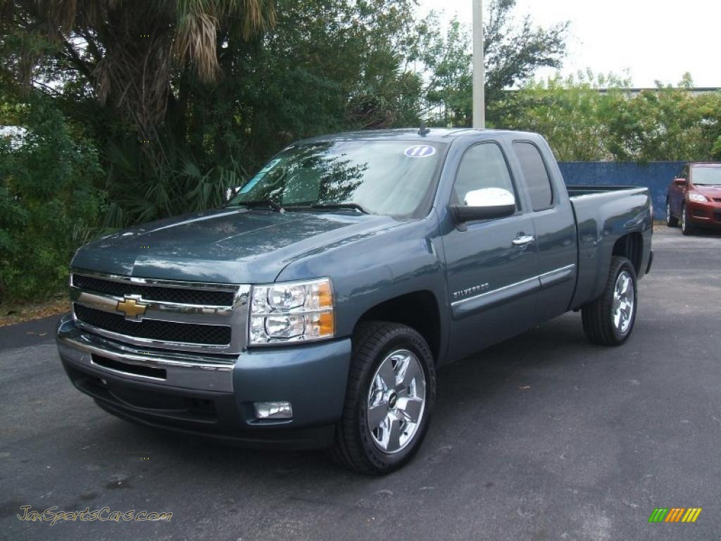 2011 chevrolet silverado 1500 lt extended cab in blue granite metallic 281326 jax sports. Black Bedroom Furniture Sets. Home Design Ideas