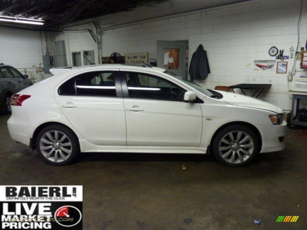 2010 mitsubishi lancer sportback gts in wicked white metallic 001860 jax sports cars cars. Black Bedroom Furniture Sets. Home Design Ideas