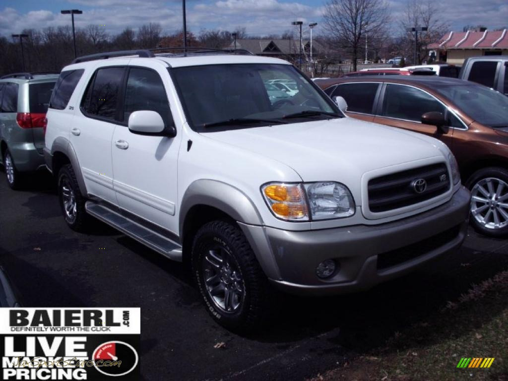 2004 toyota sequoia sr5 4x4 in natural white 221949 jax sports cars cars for sale in florida. Black Bedroom Furniture Sets. Home Design Ideas