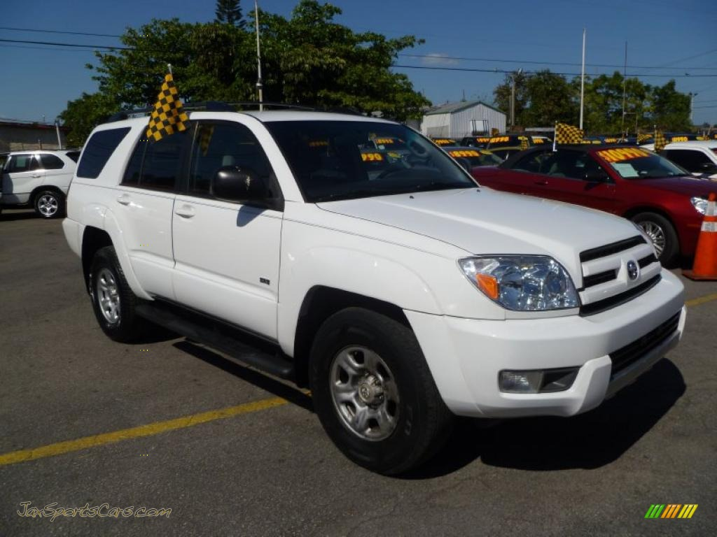 2003 toyota 4runner sr5 4x4 in natural white 010852 jax sports cars cars for sale in florida. Black Bedroom Furniture Sets. Home Design Ideas