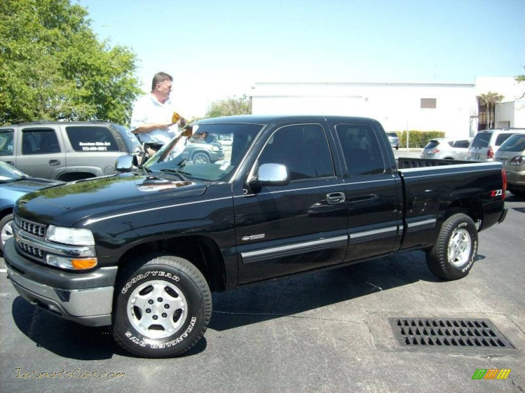Onyx black medium gray chevrolet silverado 1500 ls extended cab 4x4