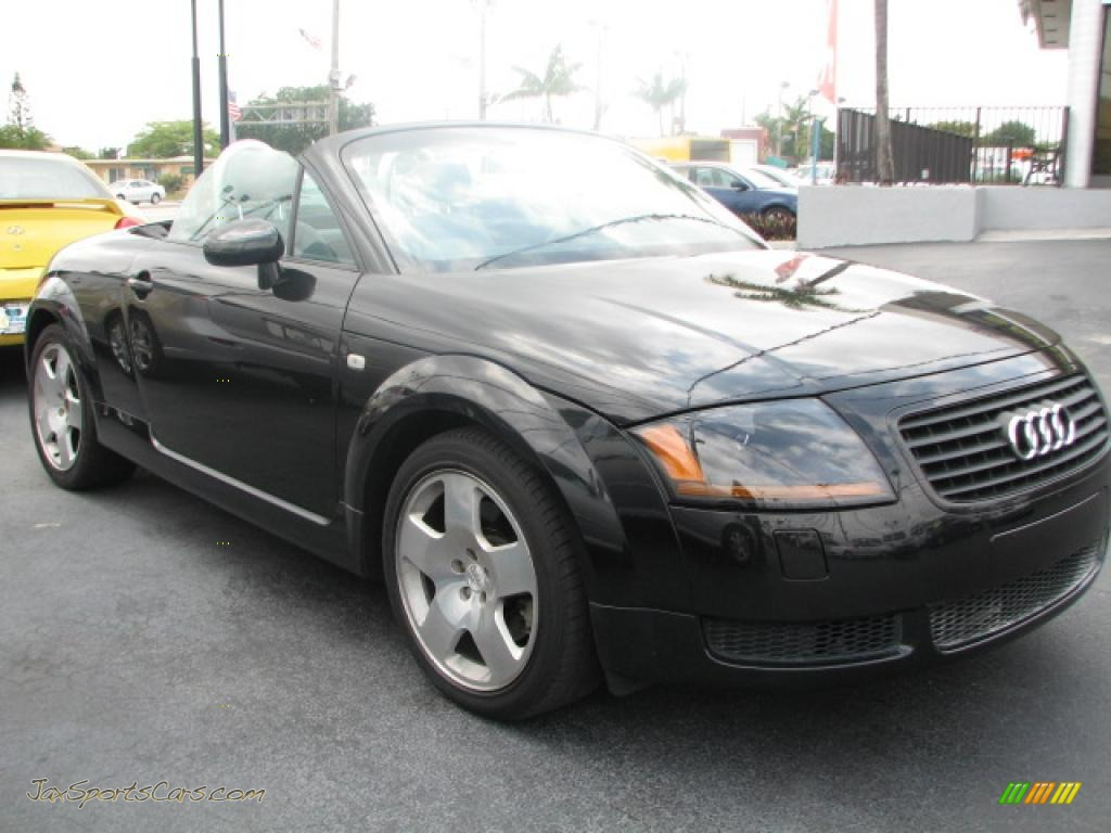 2001 audi tt 1 8t quattro roadster in brilliant black 006652 jax sports cars cars for sale. Black Bedroom Furniture Sets. Home Design Ideas