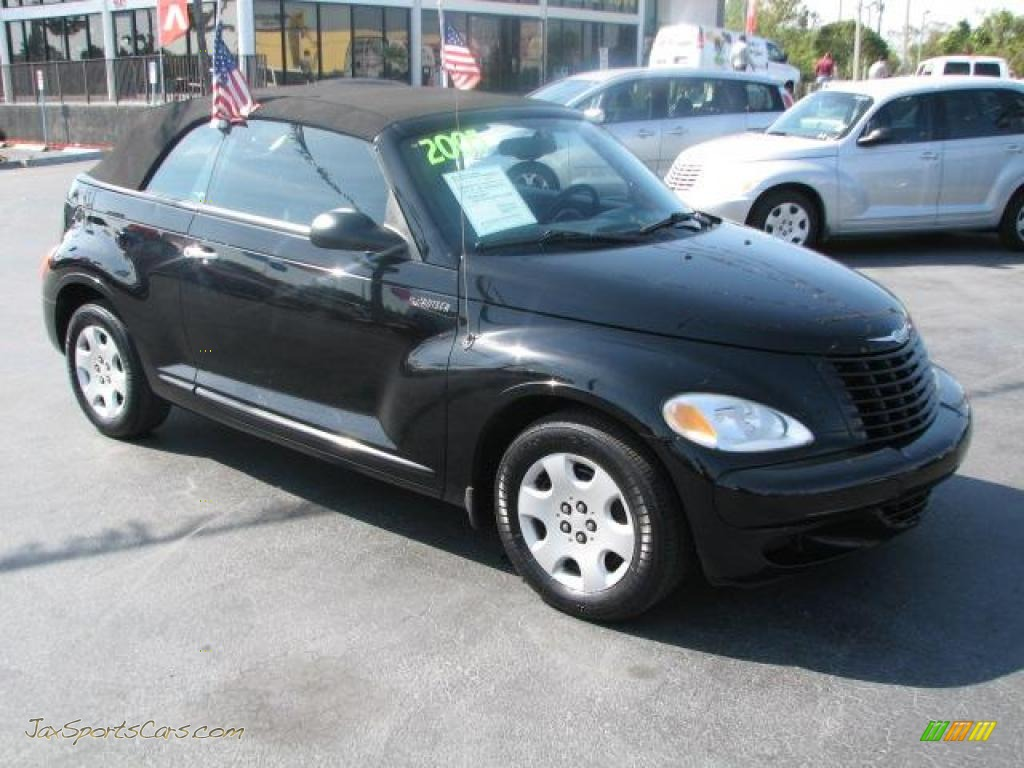 2005 chrysler pt cruiser convertible in black 310002. Black Bedroom Furniture Sets. Home Design Ideas