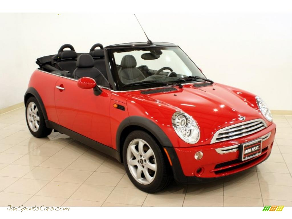 2008 mini cooper convertible in chili red g17829 jax sports cars cars for sale in florida. Black Bedroom Furniture Sets. Home Design Ideas