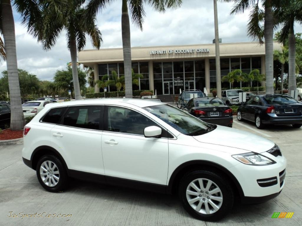 2008 mazda cx 9 touring in crystal white pearl mica 146641 jax sports cars cars for sale. Black Bedroom Furniture Sets. Home Design Ideas