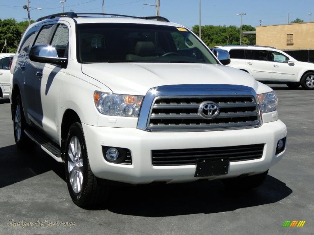 2008 toyota sequoia platinum in arctic frost pearl photo 3 011254 jax sports cars cars. Black Bedroom Furniture Sets. Home Design Ideas