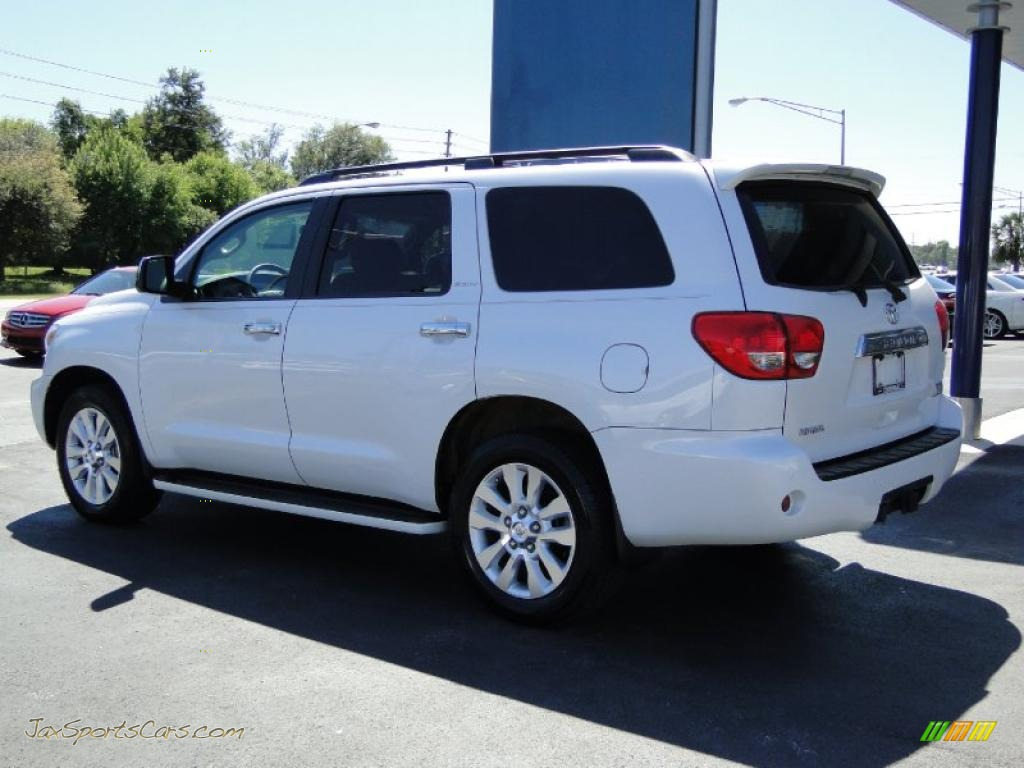 2008 toyota sequoia platinum in arctic frost pearl photo. Black Bedroom Furniture Sets. Home Design Ideas