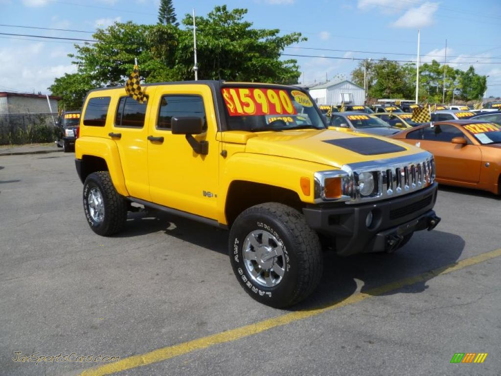 2006 Hummer H3 In Yellow 101285 Jax Sports Cars Cars