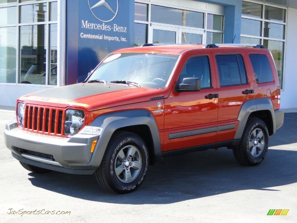 2010 Jeep Liberty Renegade 4x4 In Sunburst Orange Pearl