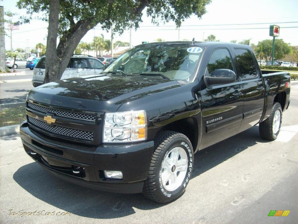 2011 chevrolet silverado 1500 lt crew cab 4x4 in black 270304 jax sports cars cars for. Black Bedroom Furniture Sets. Home Design Ideas