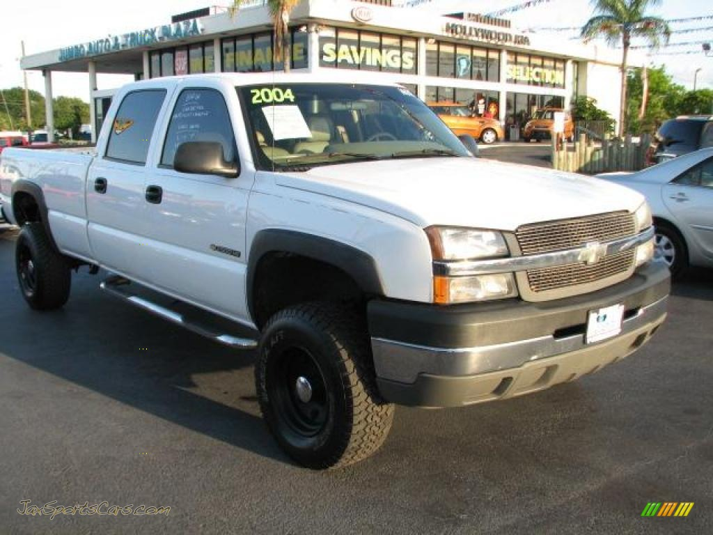 2004 chevrolet silverado 2500hd crew cab in summit white 162903 jax sports cars cars for. Black Bedroom Furniture Sets. Home Design Ideas