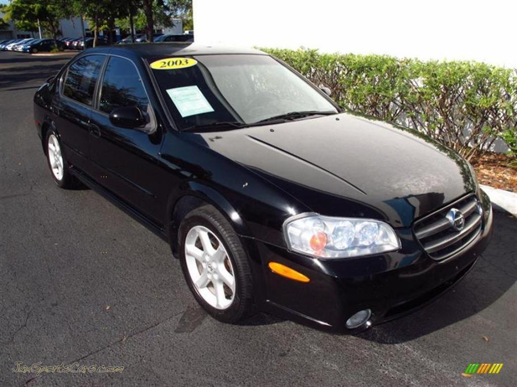2003 nissan maxima se in super black 502292 jax sports cars super black frost nissan maxima se vanachro Images